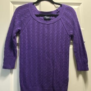 Purple 3/4 Sleeve Sweater